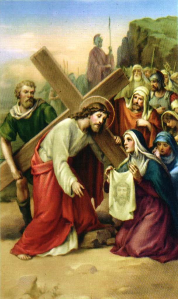 Notitarde Veronica limpia el rostro de Jesús