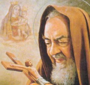 Padre Pio ante la cruz (ft img)