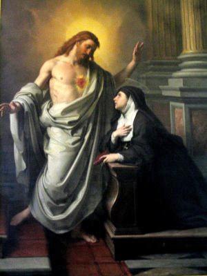 sagrado corazon y santa margarita maria