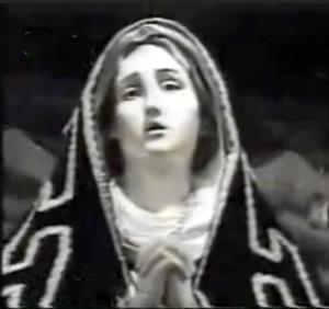 Imagen de la Virgen Abre y cierra ojos