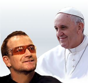 Bono-Papa Francisco (ft img)