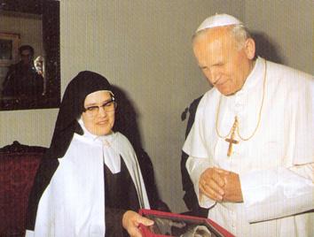 Sor Lucía y Papa Juan Pablo II