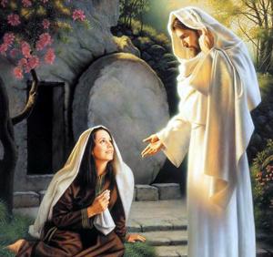 María Magadalena y Jesús Resucitado (ft img)