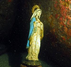 Imagen de la Virgen en el mar (ft img)