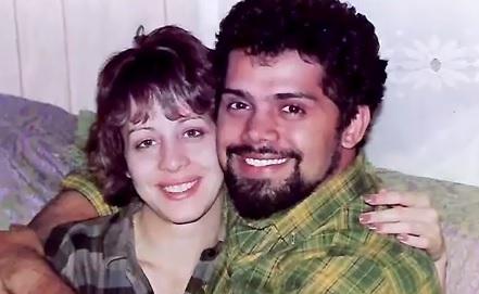 Raúl Santiago y su esposa